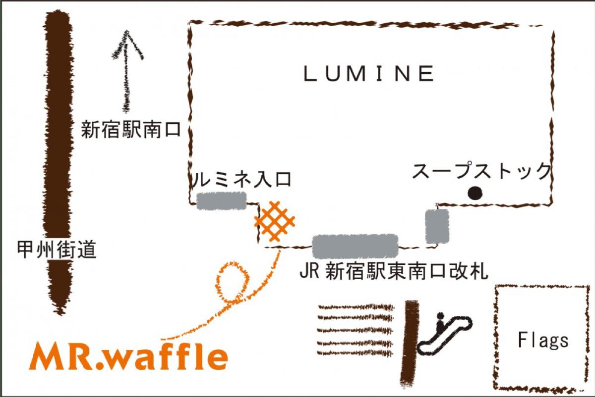 ルミネ新宿店map