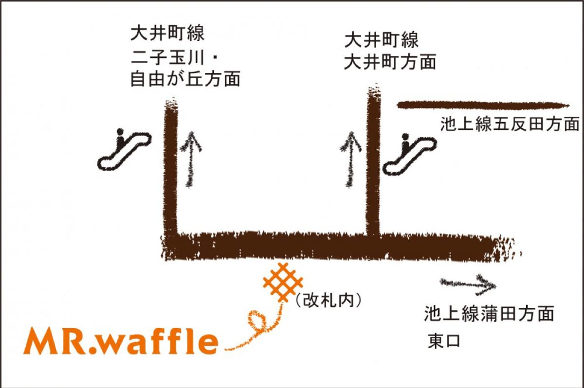 旗の台駅ナカ店map