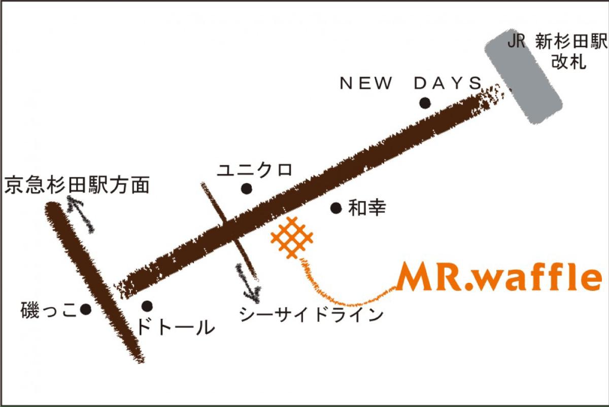 ビーンズ新杉田店map